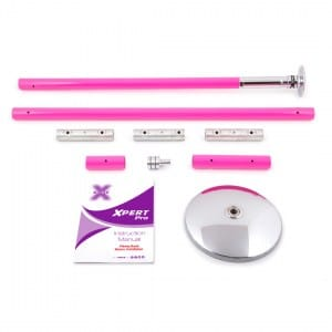 X-POLE XPERT Set PRO - Powder Coat Pink with X-Lock Mechanism