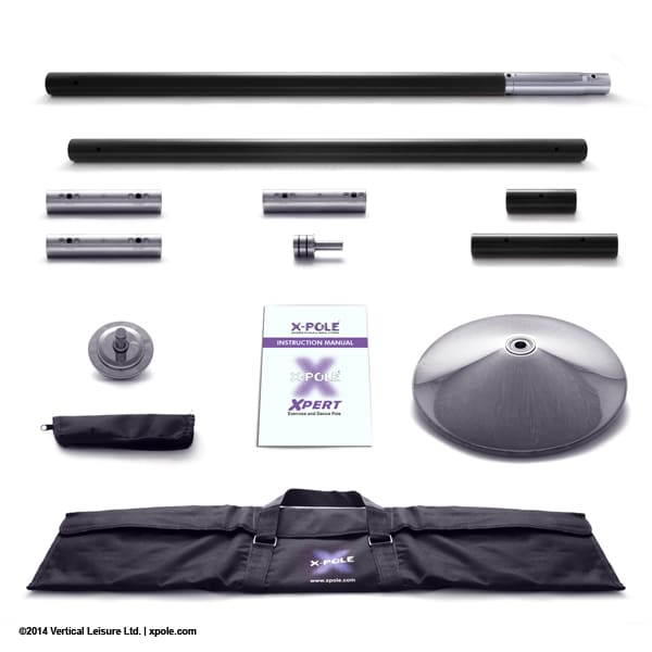 X-POLE XPERT Set - Powder Coated Black - [Spinning & Static]