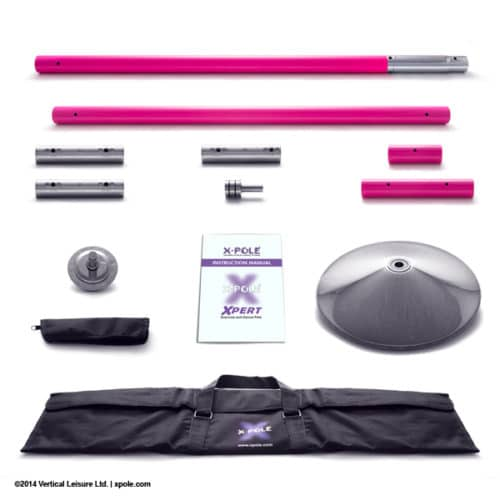 X-POLE XPERT Set - Powder Coated Pink- [Spinning & Static]