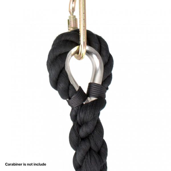3 Ply Free Rope (Corde Lisse) With Steel Eye - Black