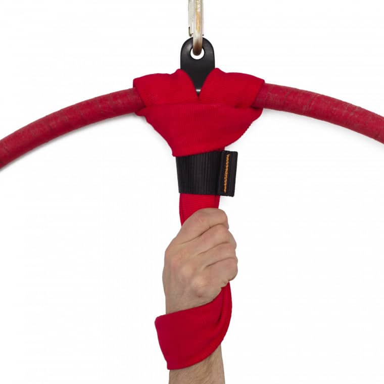 Aerial Cotton Covered Hand Loop Strap - Red