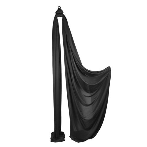 Medium Stretch Aerial Silks – Black
