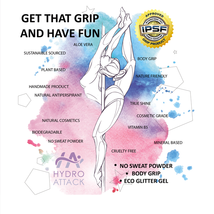 Hydro Attack Body Grip Spray