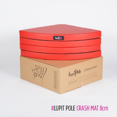 Lupit Pole Standard Crash Mat 8cm Red