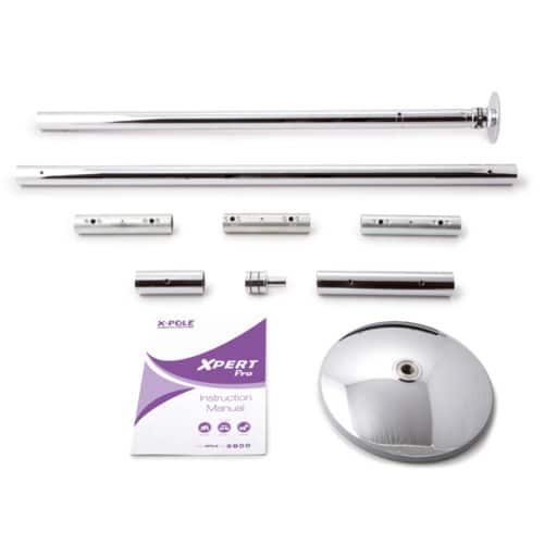 X-POLE XPERT Set PRO - Chrome with X-Lock Mechanism