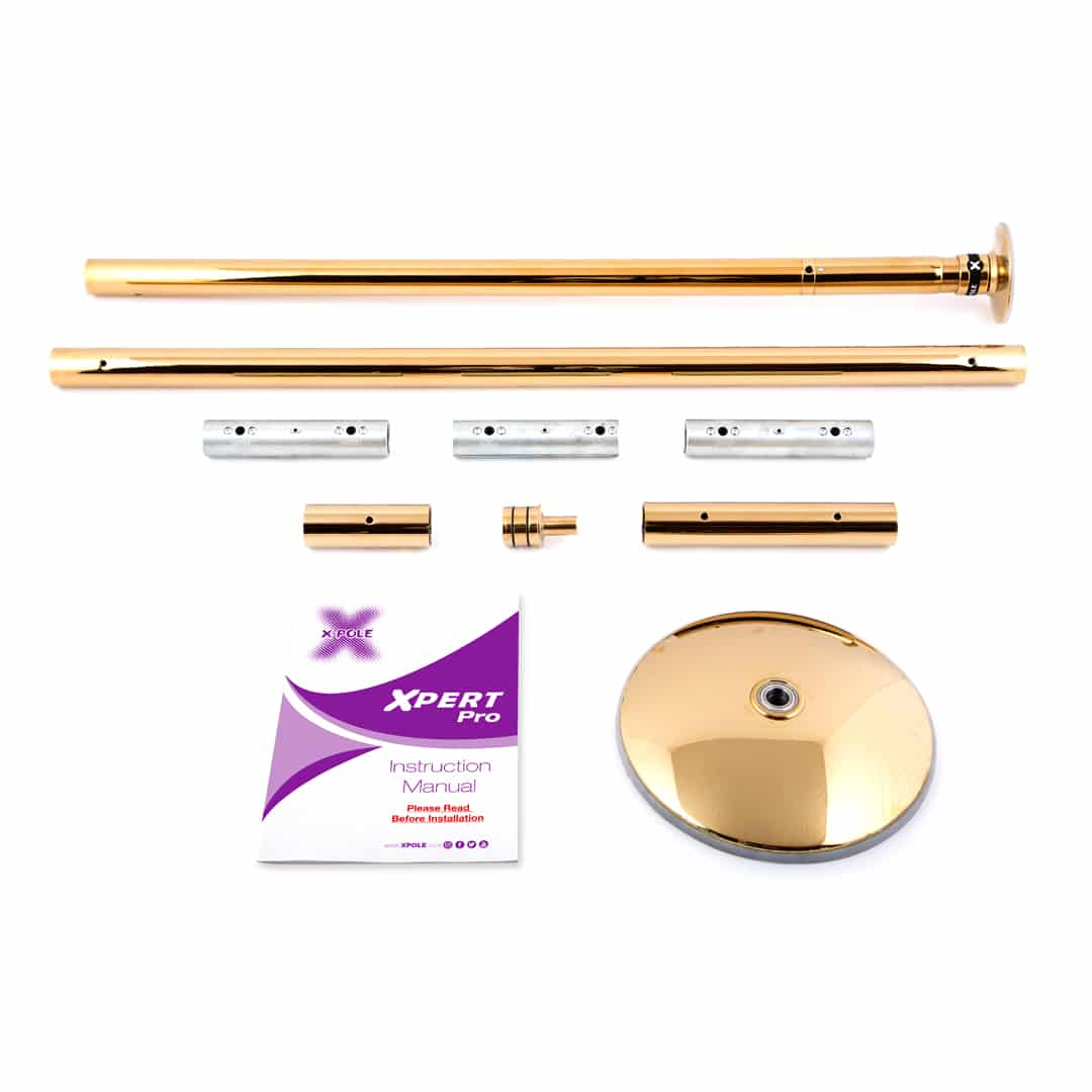 X-POLE XPERT Set PRO - Titanium Gold with X-Lock Mechanism