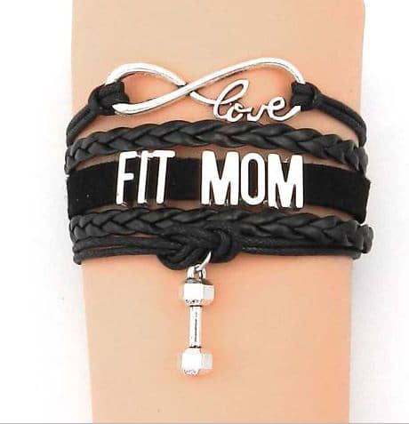 Fit mom bracelet black