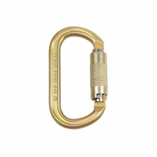 ISC KL321 Twist-Locking Offset Oval Carabiner - 40kN
