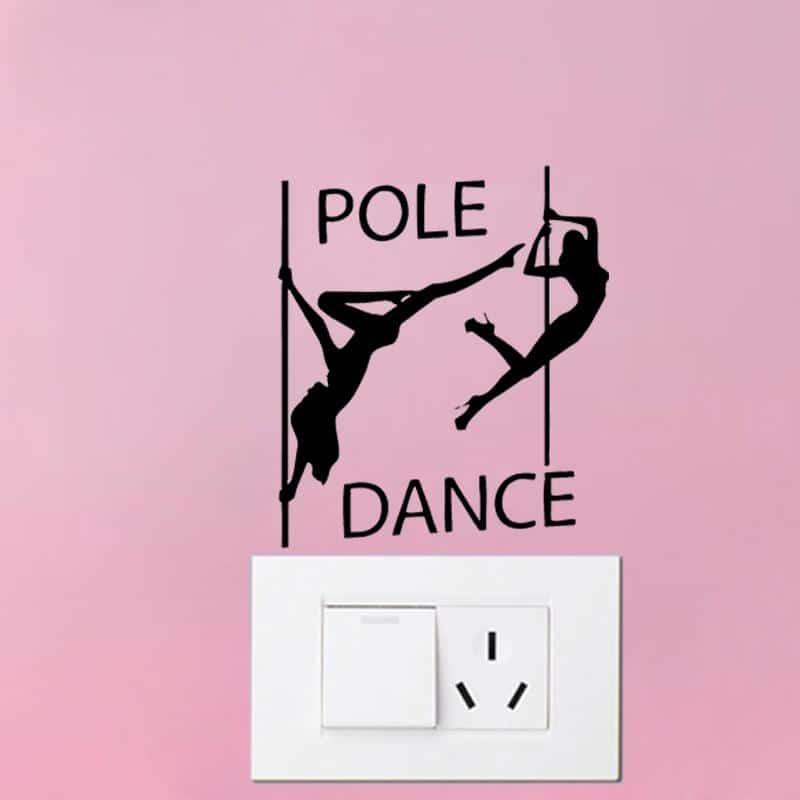 Αυτοκόλλητο Pole Dancer