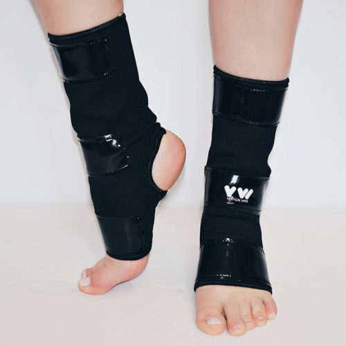 Ankle Protectors with Tack for Gripping the Pole