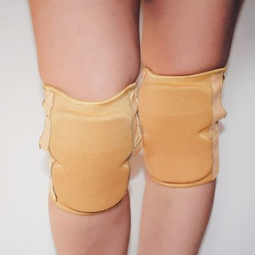 Sticky Knee Pads with Padding - Nude