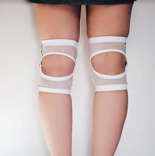 Circle Knee Pads - White