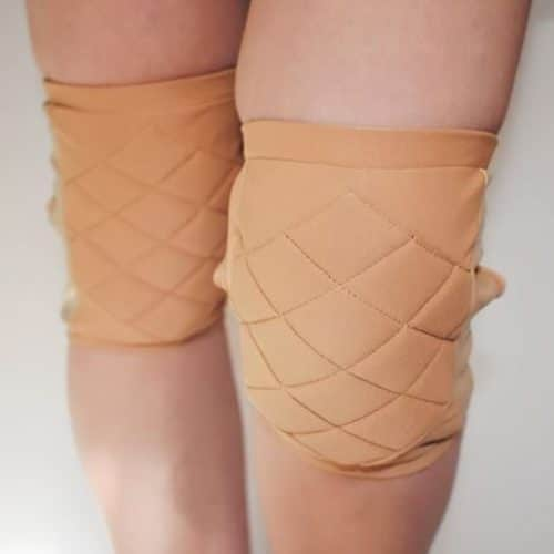 Quilted Knee Pads - Nude