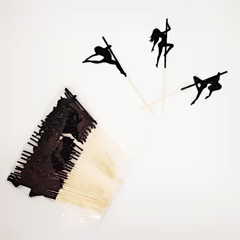 Pole Dance Cupcake Toppers