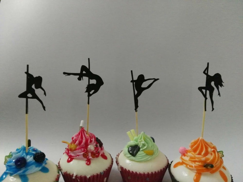 Pole Dance Cupkace Toppers
