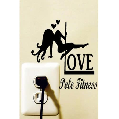 Love Pole Fitness Sticker